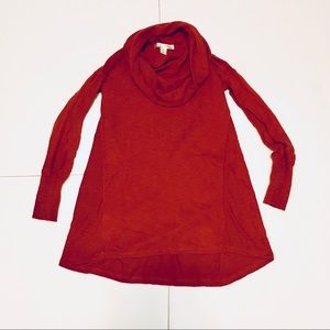 Kaiselyn Sweaters - Kaiselyn Burnt Orange Cowl Neck Sweater